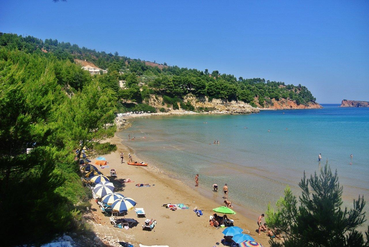 Chrisi Milia Beach in Alonissos, Greece