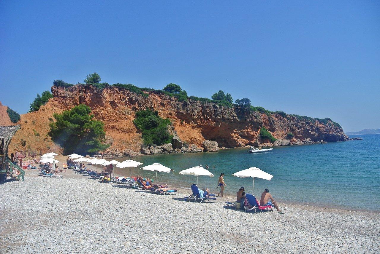 Kokinokastro Beach in Alonissos, Greece