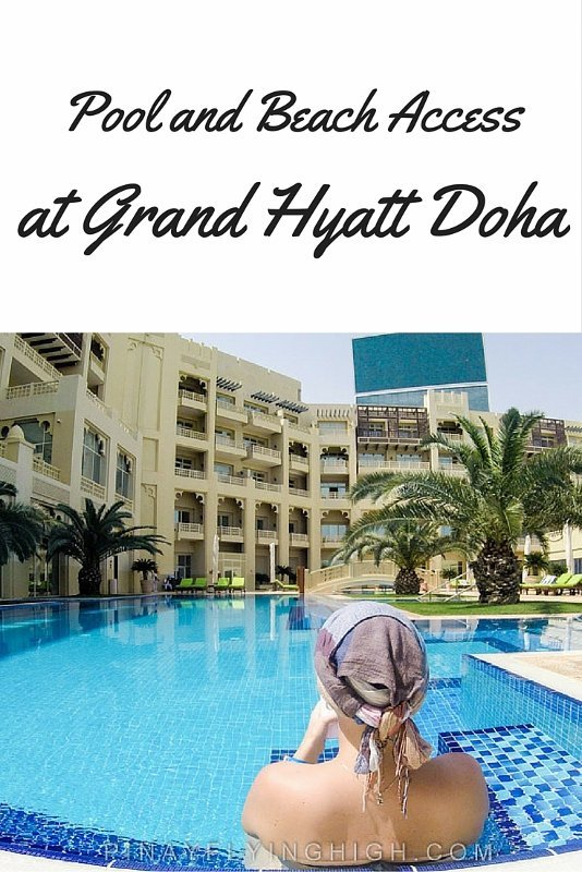 Pool and Beach Access at Grand Hyatt Doha