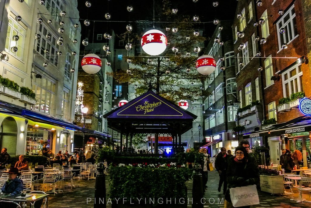 ST CHRISTOPHER'S PLACE LONDON CHRISTMAS LIGHTS - PinayFlyingHigh.com