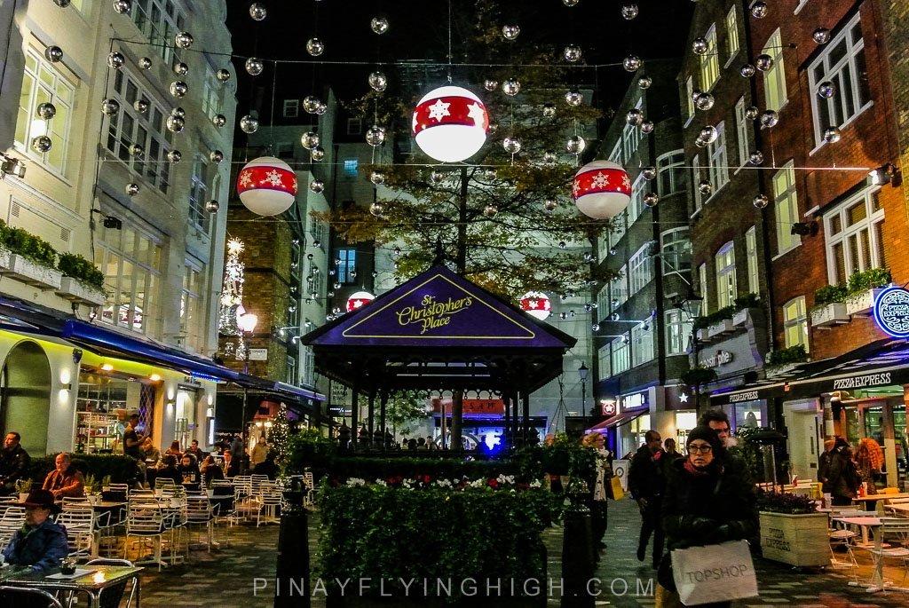 ST CHRISTOPHER'S PLACE LONDON CHRISTMAS LIGHTS - PinayFlyingHigh.com
